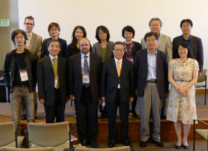 Speakers and panelists at the U.S. forum with the president (front row, fourth from left) of KLTI (Photo courtesy of the Korea Literature Translation Institute)