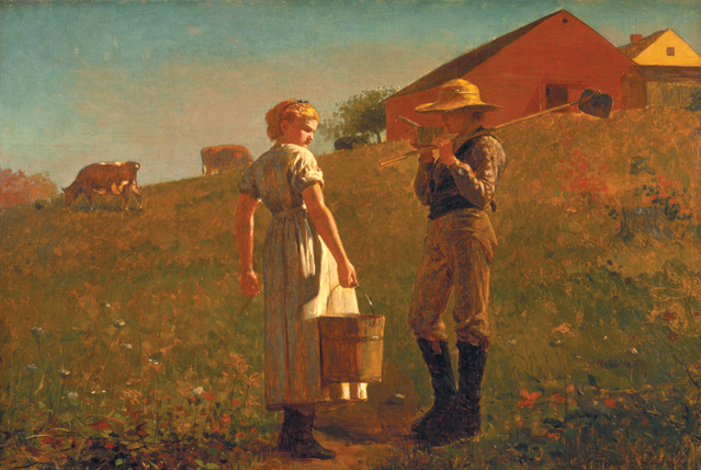 "Winslow Homer ""A Temperance Meeting"" (1874), Philadelphia Museum of Art (image courtesy of the NMOK)"