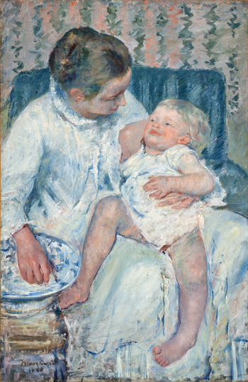 "Mary Cassatt ""Mother about to Wash Her Sleepy Child"" (1880), Los Angeles County Museum of Art (image courtesy of the NMOK)"