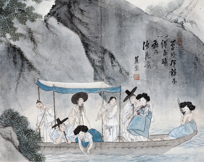 Juyucheonggang (Boating on a Clear River) by Sin Yun-bok
