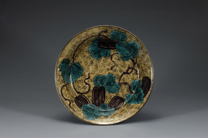 """""""Bowl With an Oriental Melon Design"""" is a porcelain dish manufactured in Arita Town, on Kyushu, in the early 17th century. (photo courtesy of the NMK)"""