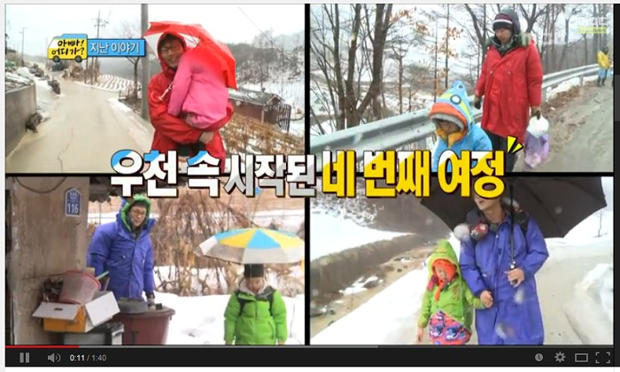 Daddy, Where Are You Going features a group of male celebrities having a trip with their kids.