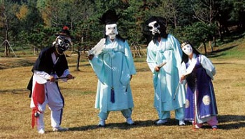A nobleman scene from the mask dances of Bongsan