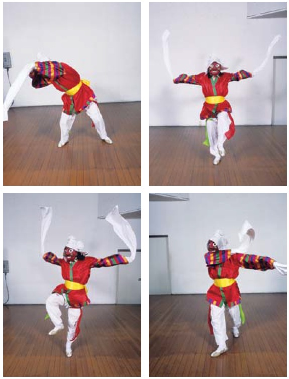 Dance movements of the mask dance from Eunyul.