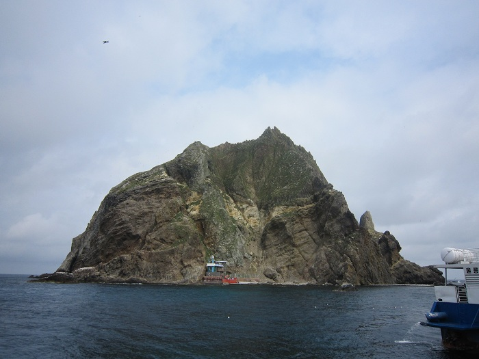 Rep. Ed Royce, chairman of the U.S. House Committee on Foreign Affairs, said that 'Dokdo' is the proper name for Korea's easternmost islands. Pictured above (top) is Seodo, the western part of Dokdo, and (bottom) Dongdo, the eastern part.