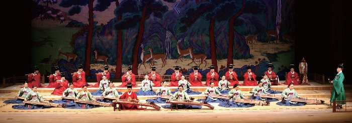 picture of performers performing traditional muscial instruments