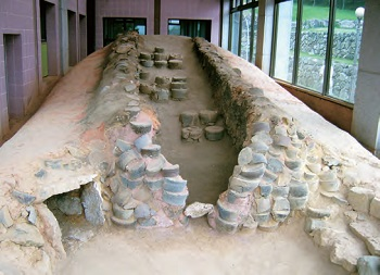 <b>Kiln Site in Gangjin, Jeollanam-do.</b> The remains of ancient kilns can be seen in Gangjin, which was one of the main producers of celadon wares during the Goryeo period.