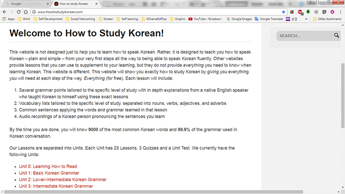 My Korean learning Journey : Korea net : The official