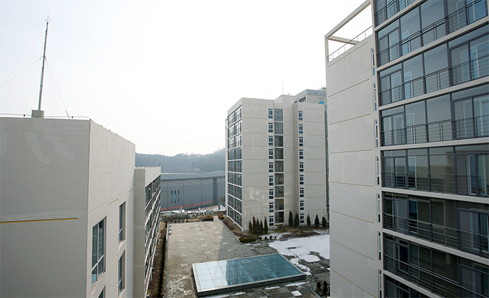 The Hwarang Dormitory allows athletes to both train and live at the sports complex.