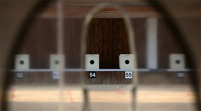 Athletes have access to an indoor 50 meter pistol shooting range.