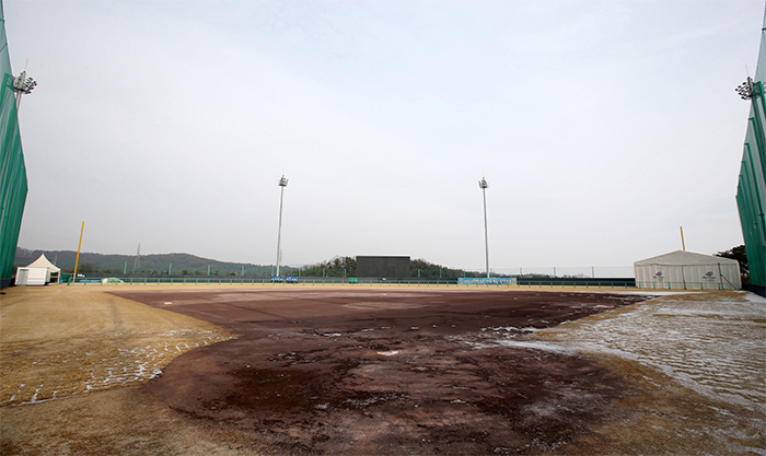 The Jincheon National Training Center includes a baseball and softball diamond.
