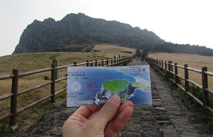 The Seongsan Ilchulbong Peak is designated at a UNESCO World Heritage site.