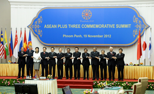 National leaders gathered in Phnom Penh for the 15th ASEAN+3 Summit on November 19 (photo: Cheong Wa Dae)