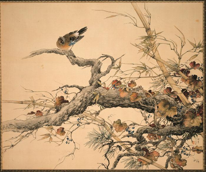 Fine and clear autumn day, by Matsubayashi Keigetsu (1876-1963), 1933, color on silk, 121.0cm x 144.0cm.
