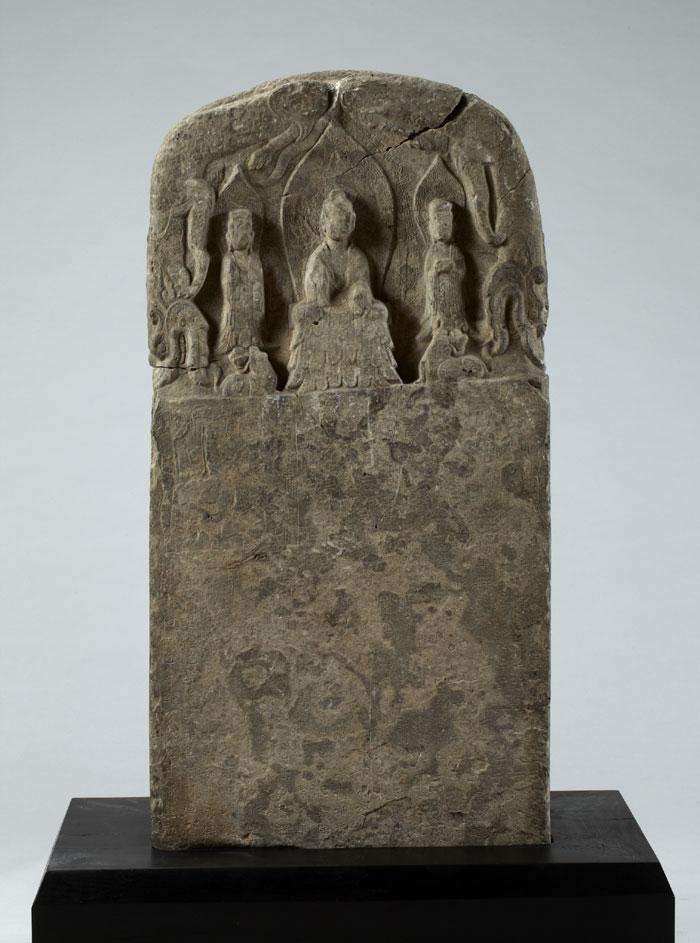 Buddhist stele, Northern Wei dynasty, 529, stone, 109.5cm tall.