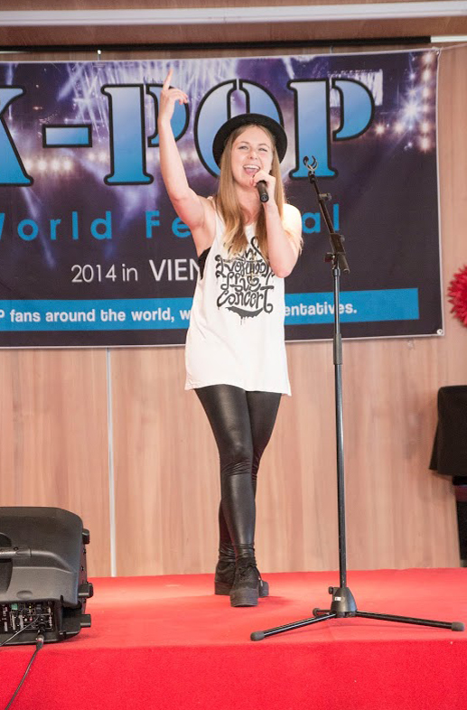 Participants in the K-pop World Festival preliminary in Vienna, Austria, showcase their dancing and singing. (photos courtesy of the Korean Embassy in Austria)