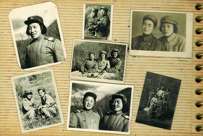 Chen Rebi had taken photos during the war, and brought 50 pictures on her recent visit to Korea (photo courtesy of KCCA).