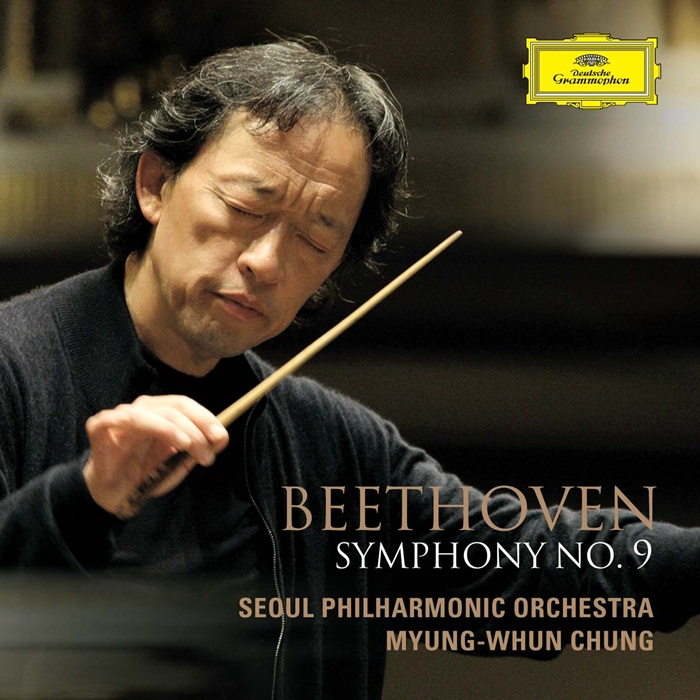 The album cover shows Myung-Whun Chung conducting Beethoven's Symphony No.9. (Photo courtesy of the Universal Music Group)