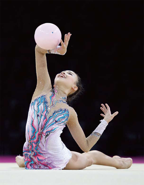 Son Yeon-jae is a South Korean rookie in the world of rhythmic gymnastics