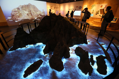 Dokdo Museum Seoul, which opened on September 15, gives visitors a firsthand look at the natural scenery as well as the history of Korea's easternmost island of Dokdo (photo: Yonhap News).