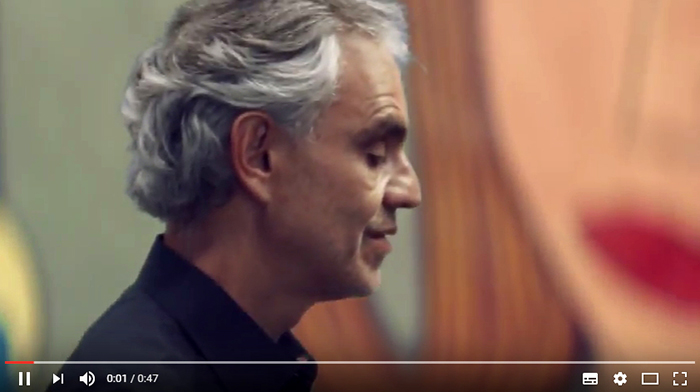 Italian tenor Andrea Bocelli is also a Dot Watch customer. Bocelli even wore it in an ad for a German telecommunications company.