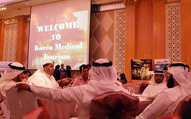 The KTO holds an explanatory session on medical tourism in Korea underway at a hotel in Dubai (photo: Yonhap News).