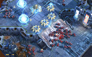 A scene from the popular StarCraft