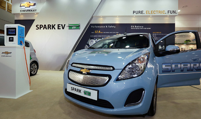 The Spark EV is made by GM Korea. (courtesy of the International Electric Vehicle EXPO)