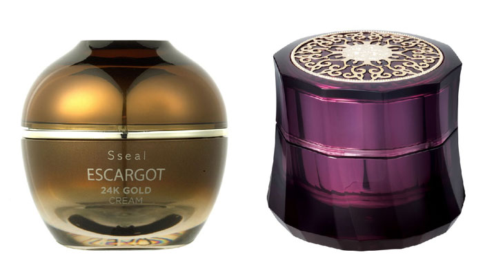 Escargot 24 Gold Cream (left) and Hwansaenggo Gold Cream are both popular among international customers.