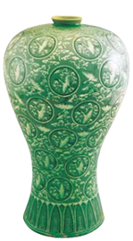 Inlaid celadon vase from the Goryeo Dynasty