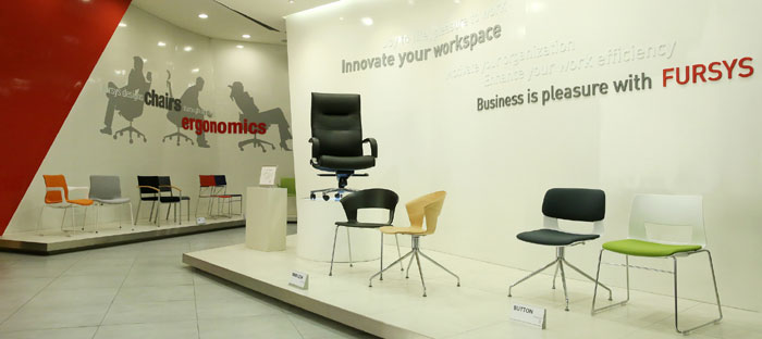 Fursys embodies design, science of office furniture : Korea