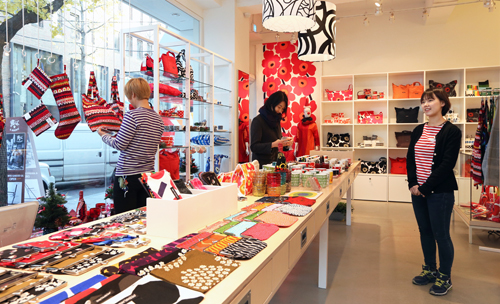 Finnish brand Marimekko sells decorative crafts and home furnishings popular with trendy young customers and tourists (photo: KOCIS).