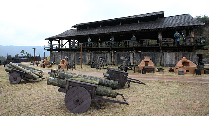 The smithy is used as a filming location for the tv soap opera king