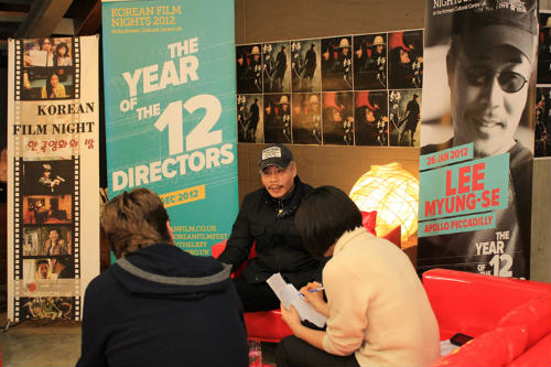 Korean film director Lee Myung-se is interviewed prior to the film screening on January 26 (Photo courtesy of the KCCUK).