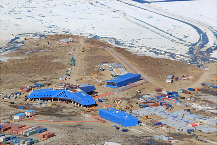 The Jang Bogo Antarctic Research Station, Korea's second Antarctic base, will open on February 12 in Terra Nova Bay, Victoria Land, in the southeastern part of Antarctica. (Photo courtesy of the Korea Polar Research Institute)