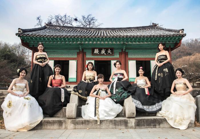 Fusion Hanbok designs at Jeonju Hyanggyo (photo: Sonjjang Design Hanbok)