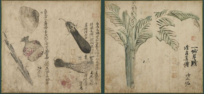 Paintings by Kang Sehwang, 18th century, ink and color on paper.