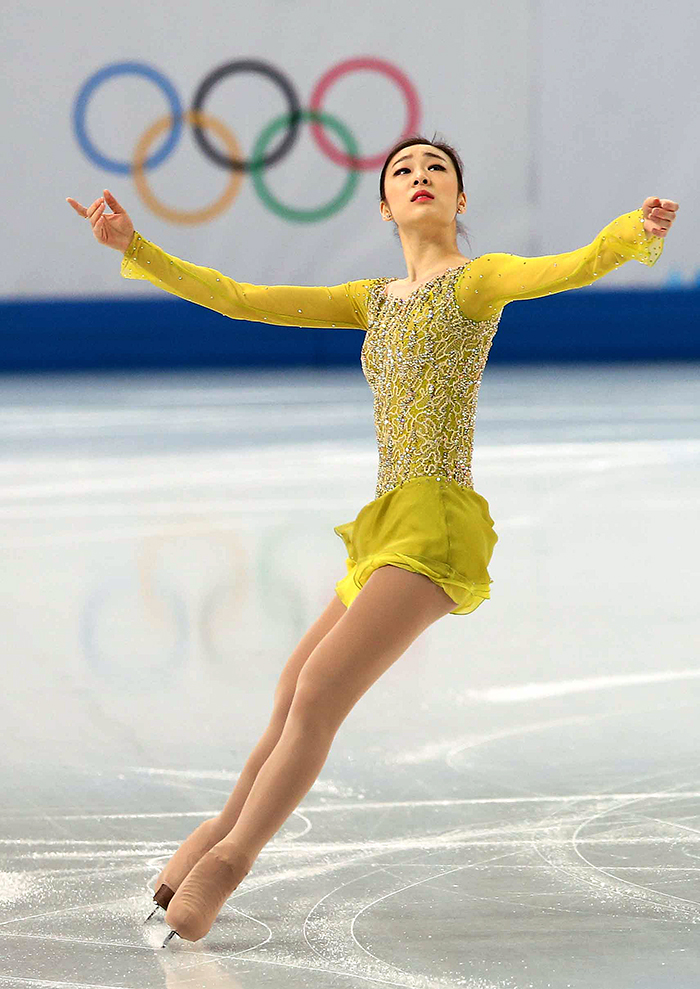 Kim finished first with a total of 74.92 points in the ladies' short program at the Sochi 2014 Winter Olympics on February 19. (photo courtesy of the Korean Olympic Committee)