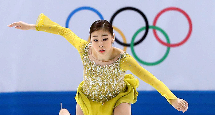After finishing first in the ladies' short program at the Winter Olympics in Sochi on February 19, Kim Yuna is now going for her second consecutive Olympic gold medal when she competes in the free program on February 20. (photo courtesy of the Korean Olympic Committee)