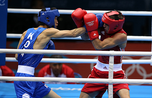 Han Soon-chul won the silver medal in the lightweight boxing event at the 2012 London Olympics, becoming Korea's first silver medalist boxer in 16 years (photo: Yonhap News).
