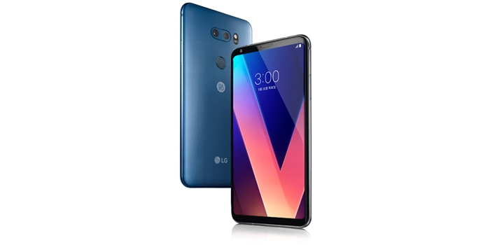 LG Electronics' new V30, the company's lightest model with powerful cameras, made its debut at the Martim Hotel in Berlin on Aug. 31, one day ahead of IFA 2017. (LG Electronics)