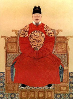 Portrait of King Sejong (1397-1450), the creator of Hangeul