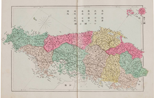 This 1892 map does not include Dokdo in its depiction of the Shimane Prefecture (photo courtesy of the Northeast Asian History Foundation).