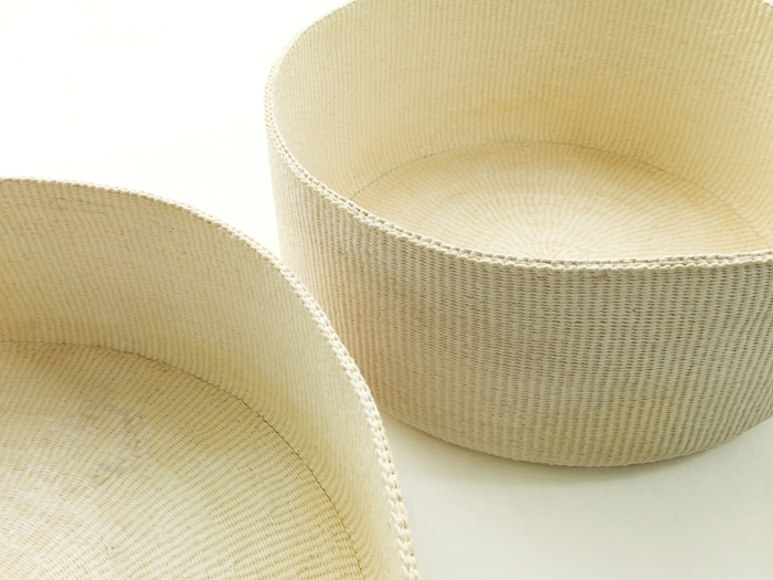 """(Top) The """"Wood and <i>Hanji</i> Paper Chests"""" were created by Park Myeong-bae and Han Kyung-hwa. (Bottom) The """"Paper-string Bowls and Paper-string Baskets and Containers"""" were made by Kang Seong-hi. (photos courtesy of the Korea Craft and Design Foundation)"""