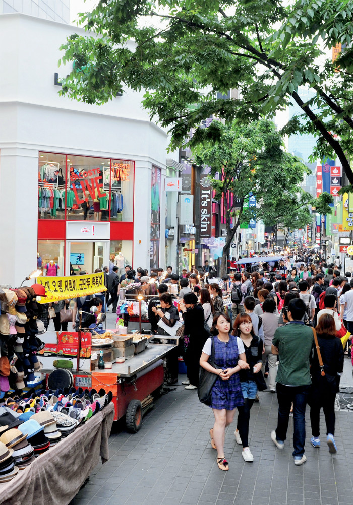 Myeong-dong. Korea's busiest fashion district and the number one attraction among international shoppers visiting Seoul