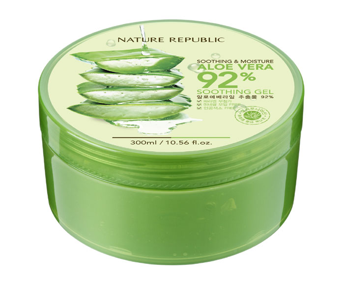 International users express favorable responses to facial creams made from luxury natural ingredients and aloe soothing gels from Nature Republic.