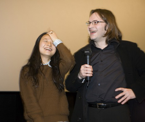 Actress Kim Kkot-bi participated in a Q&A at the screening of Breathless at the 2010 Jameson Dublin International Film Festival (photo courtesy of JDIFF).