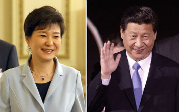 President Park Geun-hye (left) on June 27 will fly into Beijing for an official four-day visit for summit talks with Chinese President Xi Jinping (photo: Yonhap News).