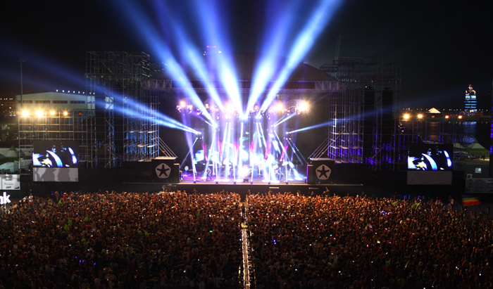 Last year's Incheon Pentaport Rock Festival (photo courtesy of Yescom Entertainment)