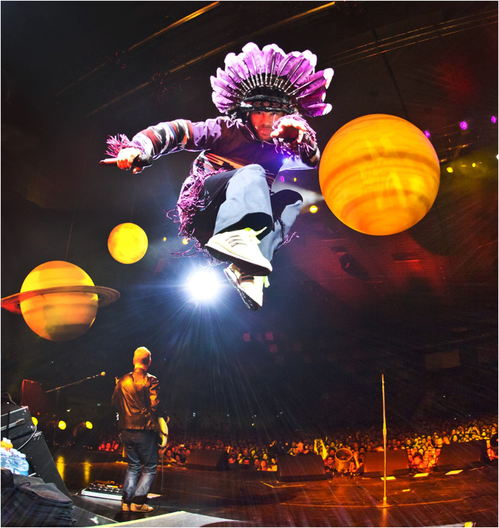British acid jazz band Jamiroquai is on the last-day lineup for 2013 Jisan World Rock Festival to be held at Jisan Forest Resort from August 2 to 4 (photo courtesy of Jisan Forest Resort).